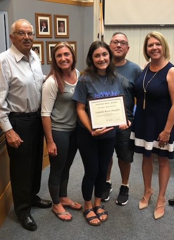 Freedom Student Recognition- Isabella Rossi-Schaeffer
