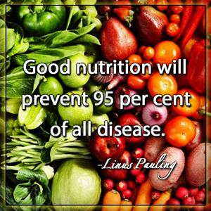 Good Nutrition Will Prevent 95% of All Disease