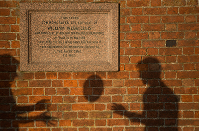 Picture of Plaque Commemorating the Birth of Rugby at Rugby School in England