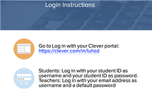 Log in instructions to clever