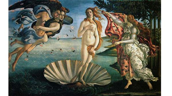 Image of the Birth of Venus by Boticelli