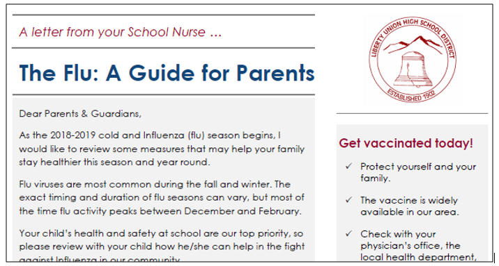 Nurse's Newsletter