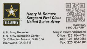 Us army business cards arts arts us army business cards templates choice image card design and reheart Images