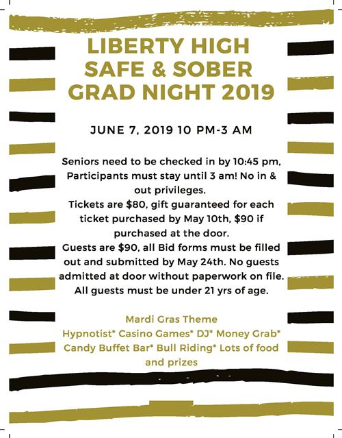 Liberty HS Safe and sober grad night