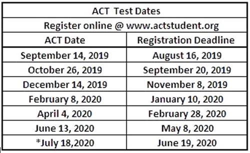 College & Career / Testing ACT, SAT & AP Information 2019 / 2020